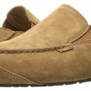 UGG Mens Sz 13 Slip On Leather Loafer Indoor Out